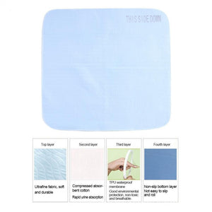 different layers of the Elderly Incontinence Reusable Waterproof Bed Pad.