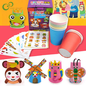 12pcs/set DIY Paper Cup Craft Kit