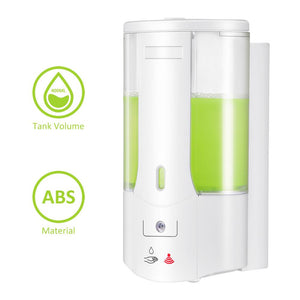 shows the detailed dimensions of the Smart Wall Soap Dispenser.