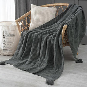 Weighted Hand-knit Sofa Blanket