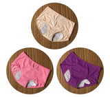 3 Pack Elderly Incontinence Women's  Leakproof Diapers Pants Underwear