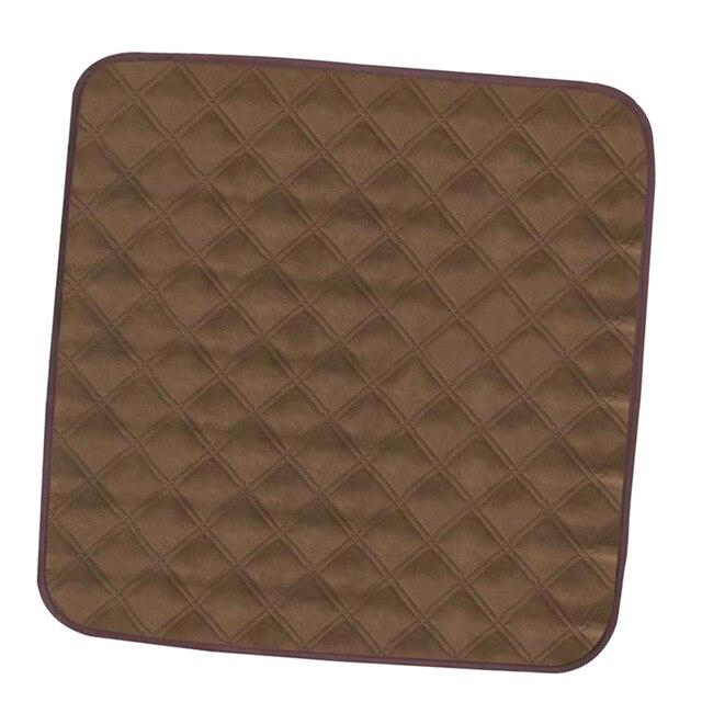 Elderly Incontinence Reusable Chair Pad in the color  light brown.