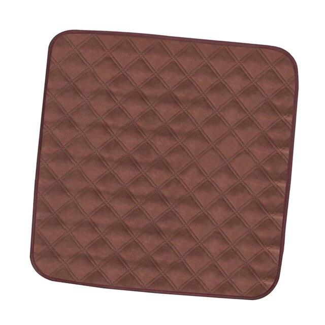 Elderly Incontinence Reusable Chair Pad in the color  dark brown.