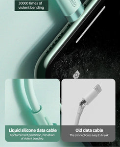 Fast Charging Silicone iPhone Cable