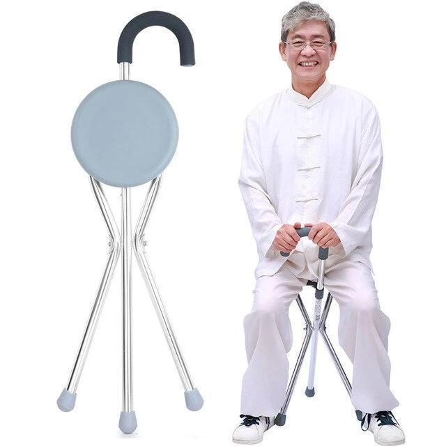 2 in 1 Walking Cane Chair