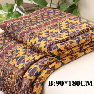 Bohemian Knitted Blanket