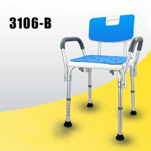 Elderly Bath Aid Anti-skid Shower Chair with Armrest and Backrest