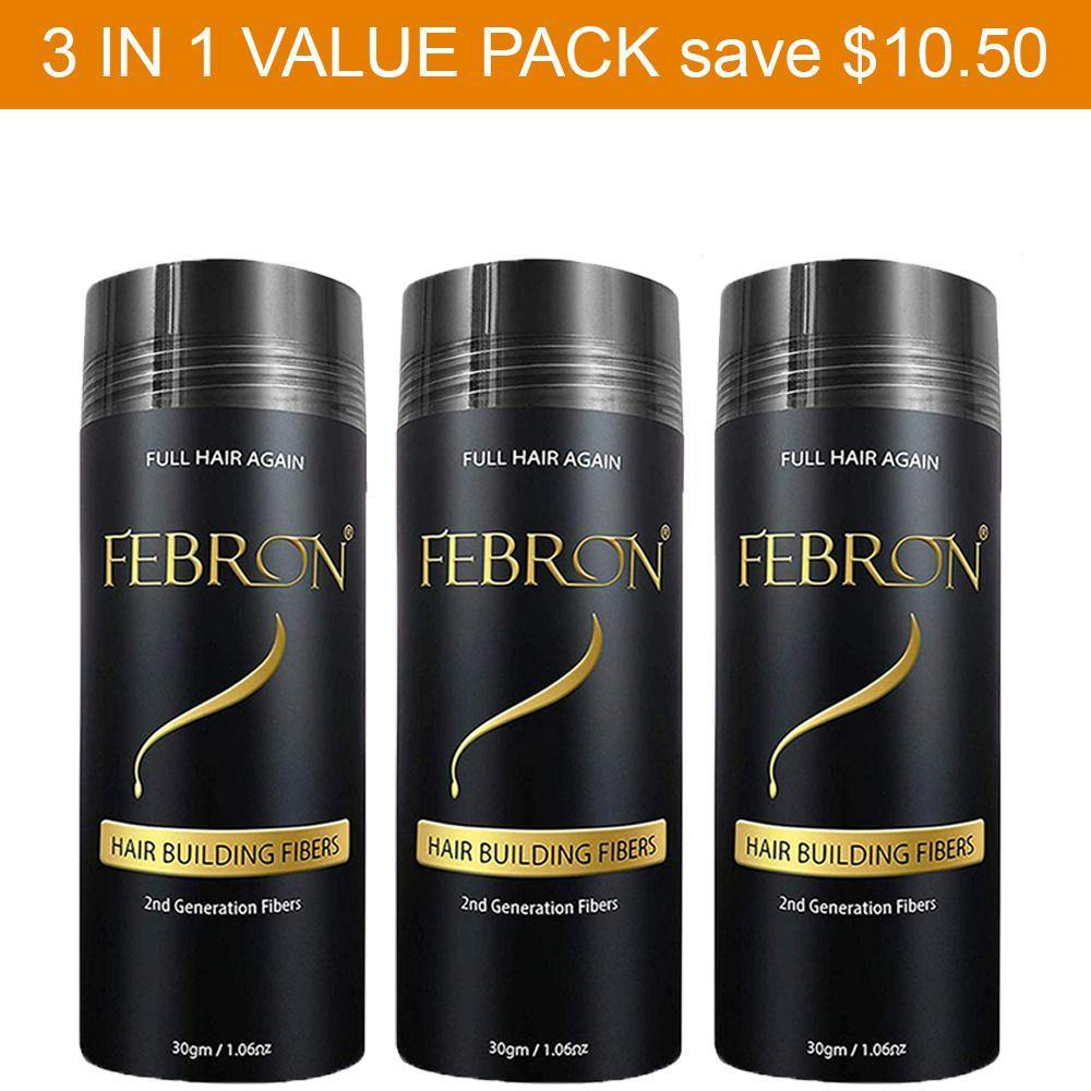 3 IN 1 Premium Febron Hair Building Fibers