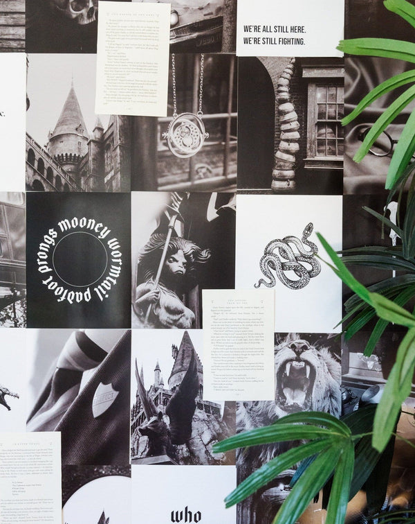 NOX BLACK AND WHITE AESTHETIC COLLAGE WALL KIT