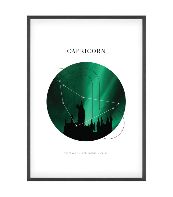Capricorn Astrological Sign Castle Art Print