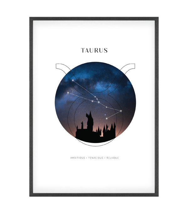 Taurus Astrological Sign Castle Art Print
