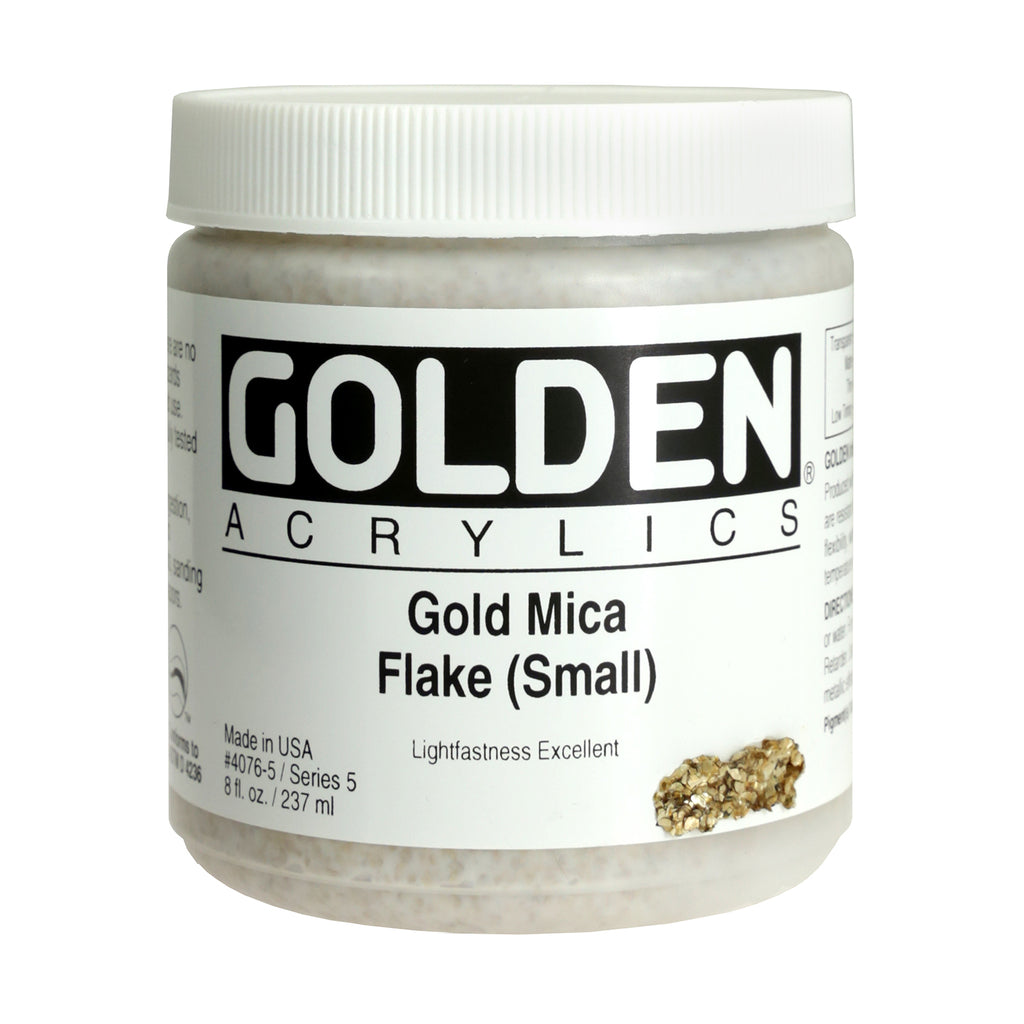 Golden® Iridescent Gold Mica Flakes, 8 oz