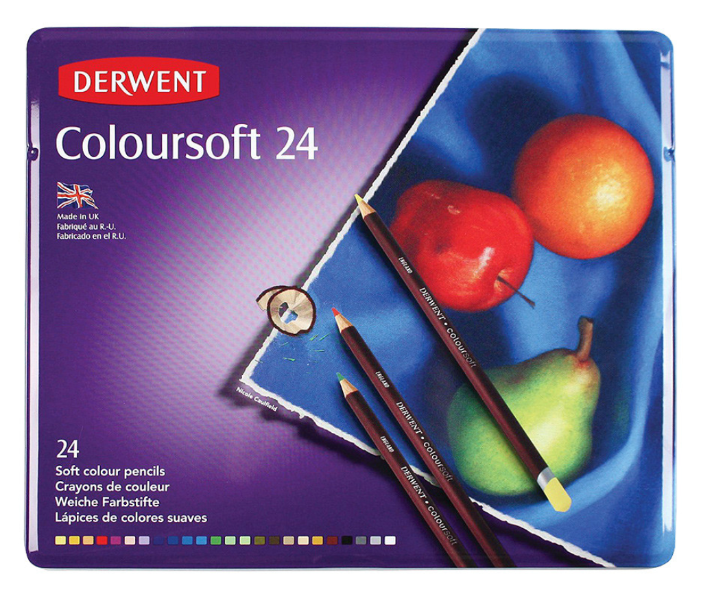 Derwent Coloursoft Soft-core Pencil Sets Tin