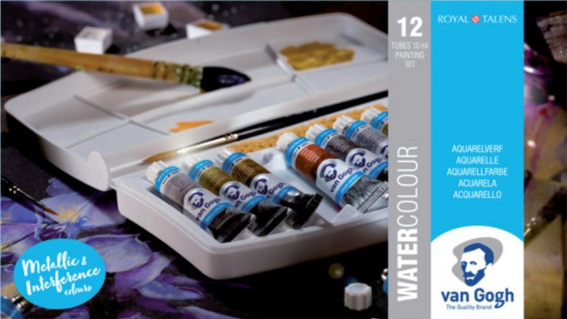 Van Gogh Watercolor Tube Set, 10mL, 12-Colours, Specialty Selection