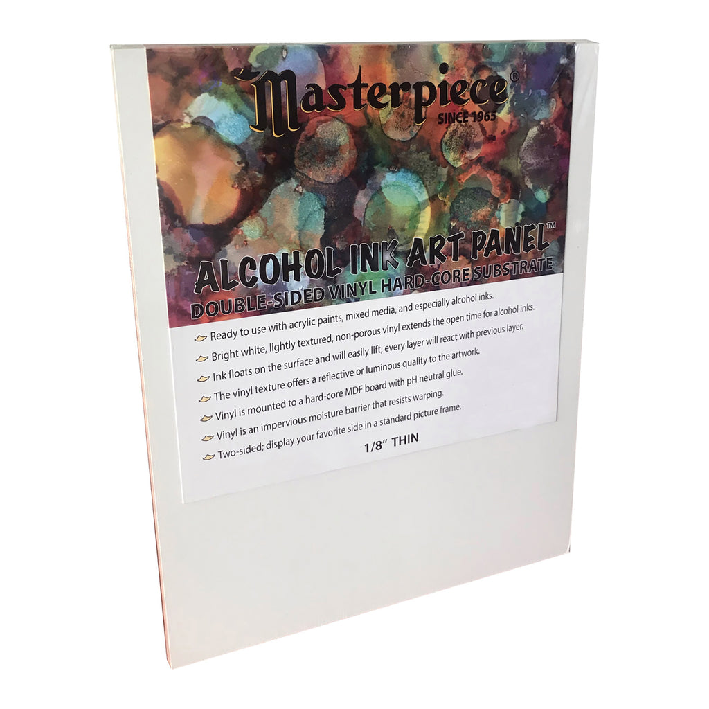 Masterpiece Alcohol Ink Art Panel, Double-sided with hard-core