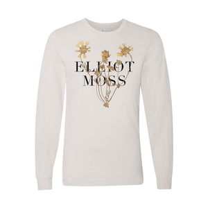 Long Sleeve Flower Tee [Cream]