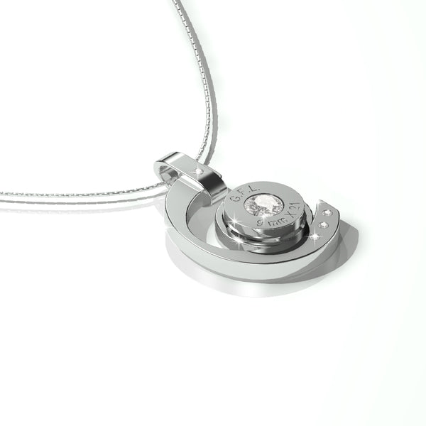SILVER BULLET NECKLACE SIGHT MODEL