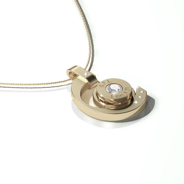 GOLD BULLET NECKLACE SIGHT MODEL