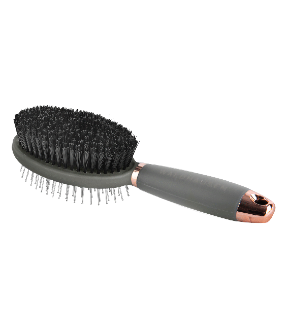 Waldhausen Rose Gold Double Brush with Gel Handle