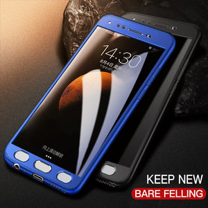 360 Full Cover Protective Case+Glass For Samsung Galaxy