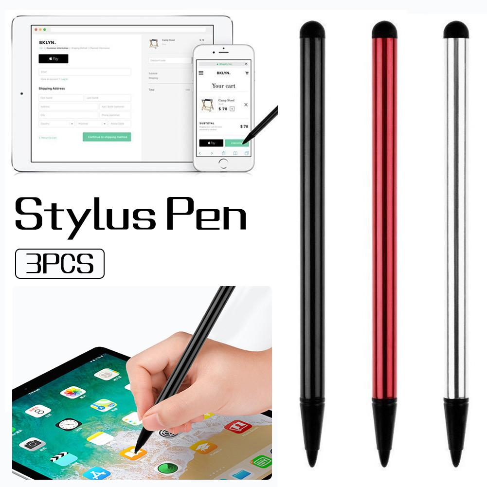 3PCS/SET Universal Solid Touch Screen Pen For iPhone iPad Samsung Tablet PC Stylus Pen