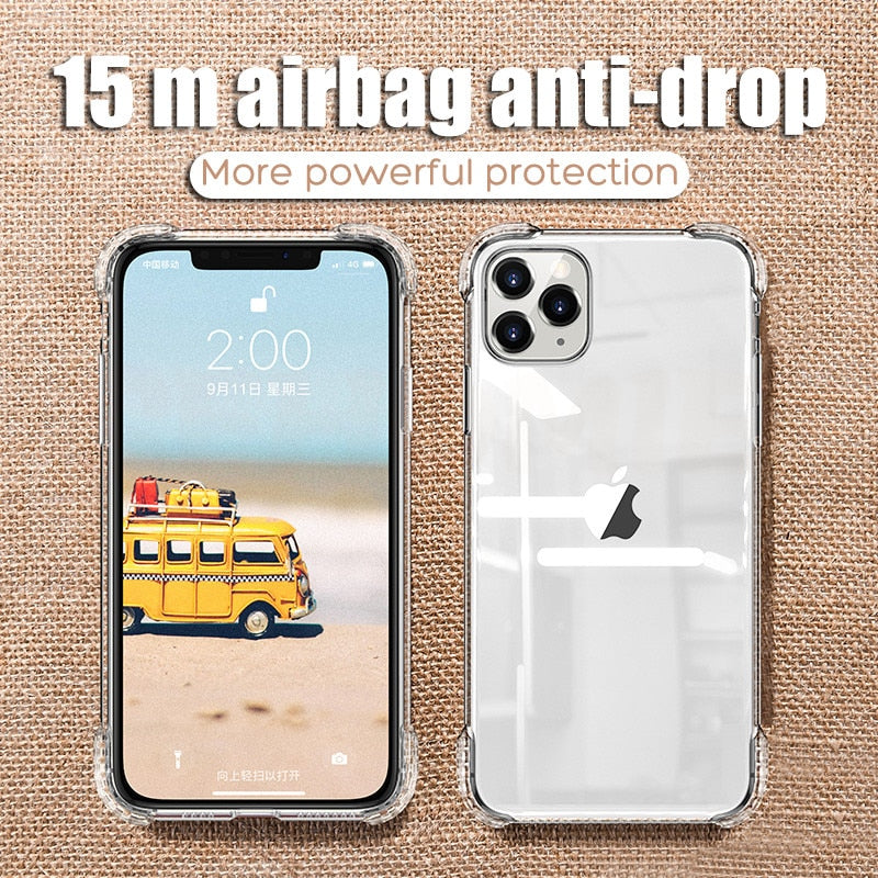 Luxury Shockproof Silicone Phone Case For iPhone 11 Pro X XR XS MAX 6 6s 7 8 Plus