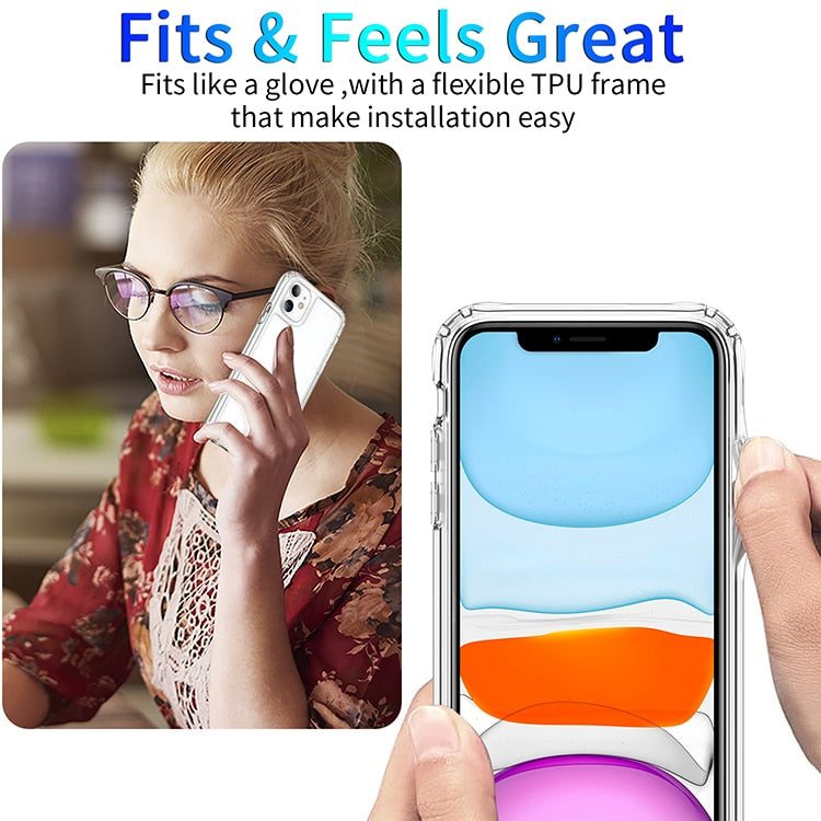 Shockproof Clear Transparent Silicone Phone Case For Samsung Galaxy
