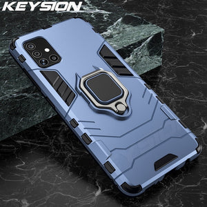 KEYSION Shockproof Case for Samsung A51 A71 A31 S20 Ultra S10 Lite Note 10 Plus A50 A70 A40 A10 A01 A21S