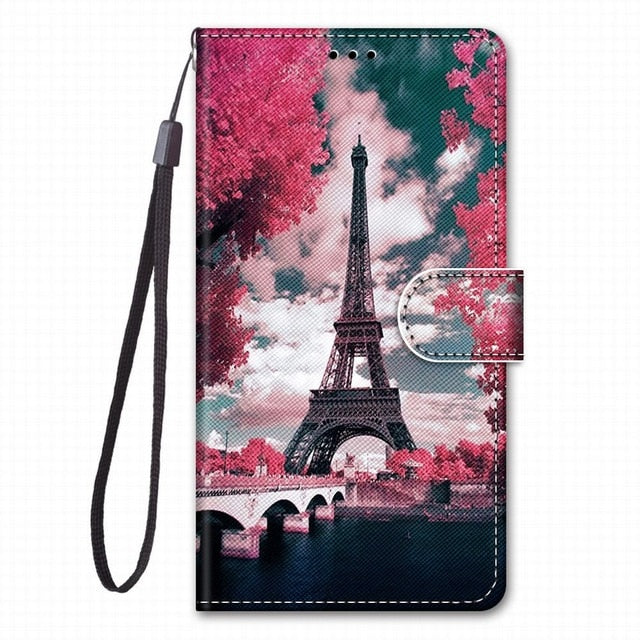 Cute Leather Phone Bag For Cover Samsung Galaxy A10 A10S A20S A20E A20 A2 Core A30 A40 A50 A60 A70 A80