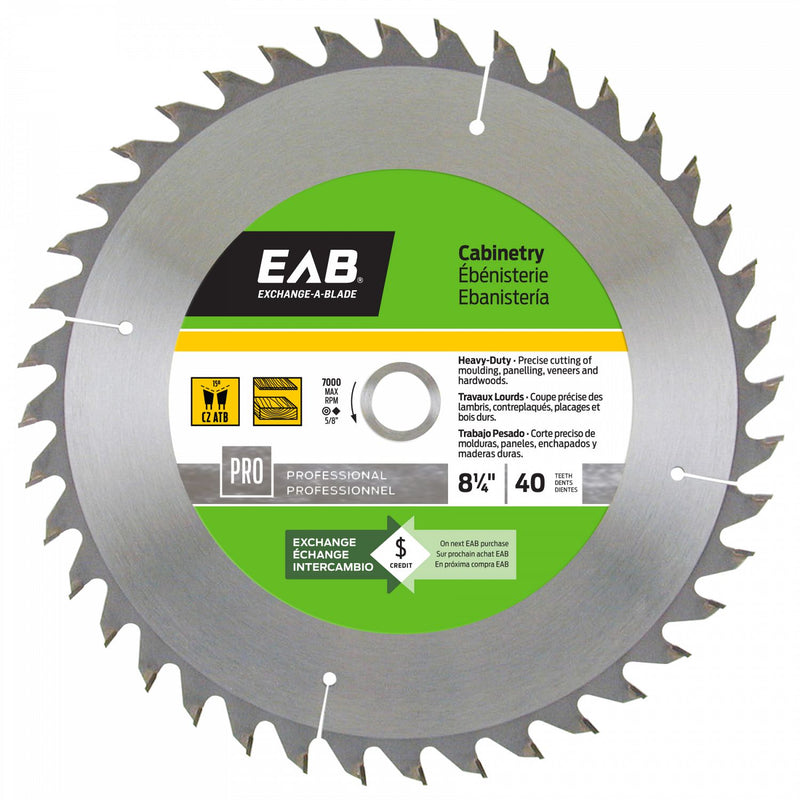 8-1/4-inch-x-40-Teeth-Carbide-Cabinetry-Professional-Saw-Blade-Exchangeable-Exchange-A-Blade