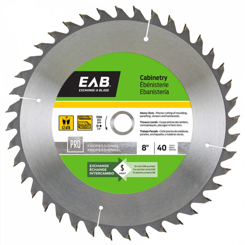 8-inch-x-40-Teeth-Carbide-Cabinetry-Professional-Saw-Blade-Exchangeable-Exchange-A-Blade