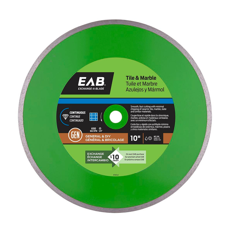 10-inch-Continuous-Tile-Green-Diamond-Blade-Exchangeable-Exchange-A-Blade