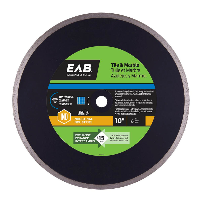 10-inch-Continuous-Tile-Wet-Cut-Black-Industrial-Diamond-Blade-Exchangeable-Exchange-A-Blade