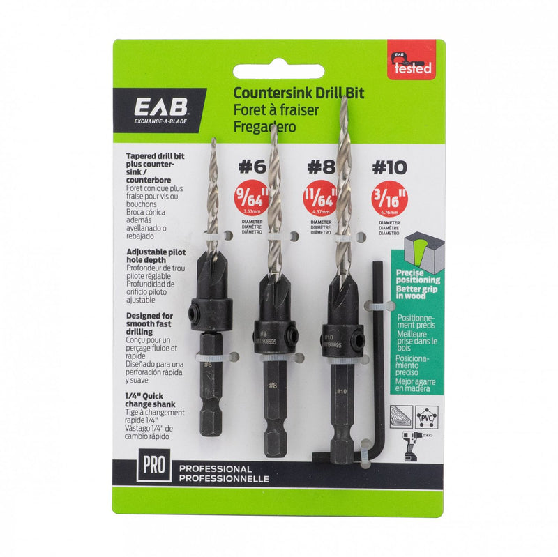 3-PC-Pack-Countersink-Professional-Drill-Bit-Exchangeable-Exchange-A-Blade