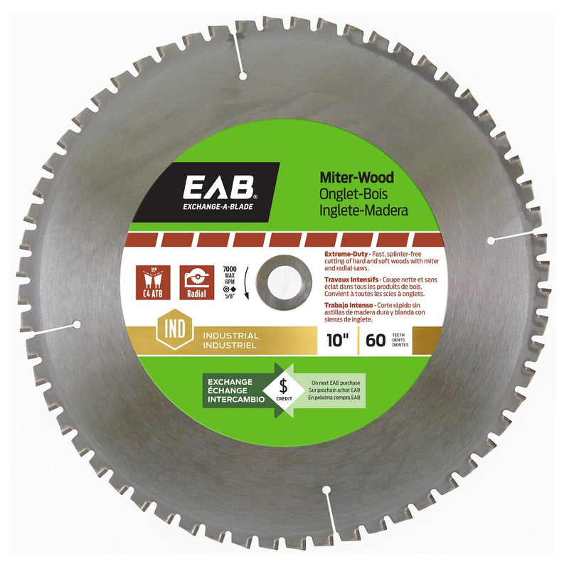 10-inch-x-60-Teeth-Carbide-Miter-Wood-Industrial-Saw-Blade-Exchangeable-Exchange-A-Blade