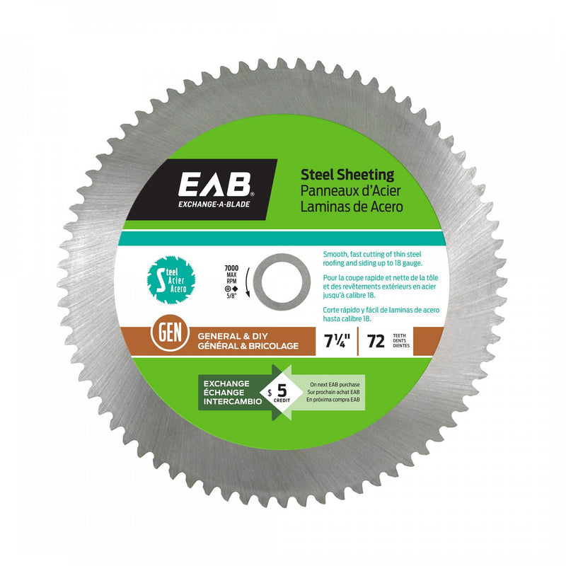 7-1/4-inch-x-72-Teeth-Steel-Sheeting-Saw-Blade-Exchangeable-Exchange-A-Blade