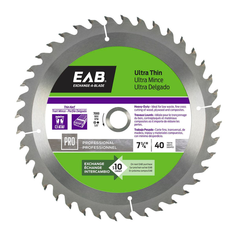 7-1/4-inch-x-40-Teeth-Carbide-Ultra-Thin-Professional-Saw-Blade-Exchangeable-Exchange-A-Blade