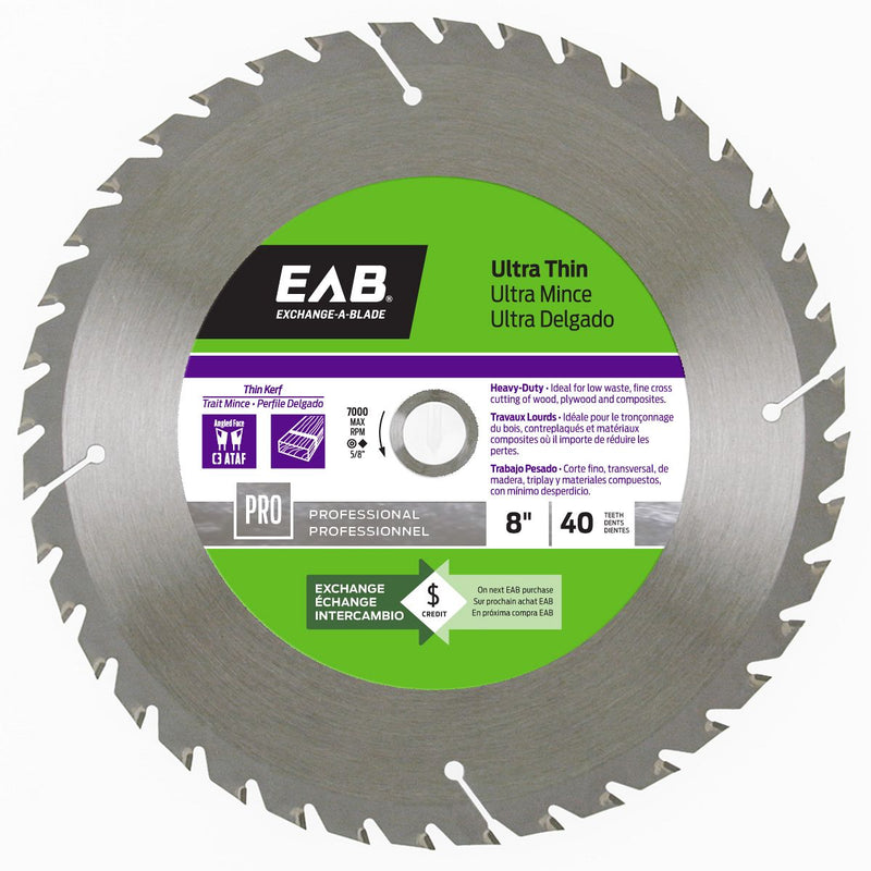 8-inch-x-40-Teeth-Carbide-Ultra-Thin-Professional-Saw-Blade-Exchangeable-Exchange-A-Blade