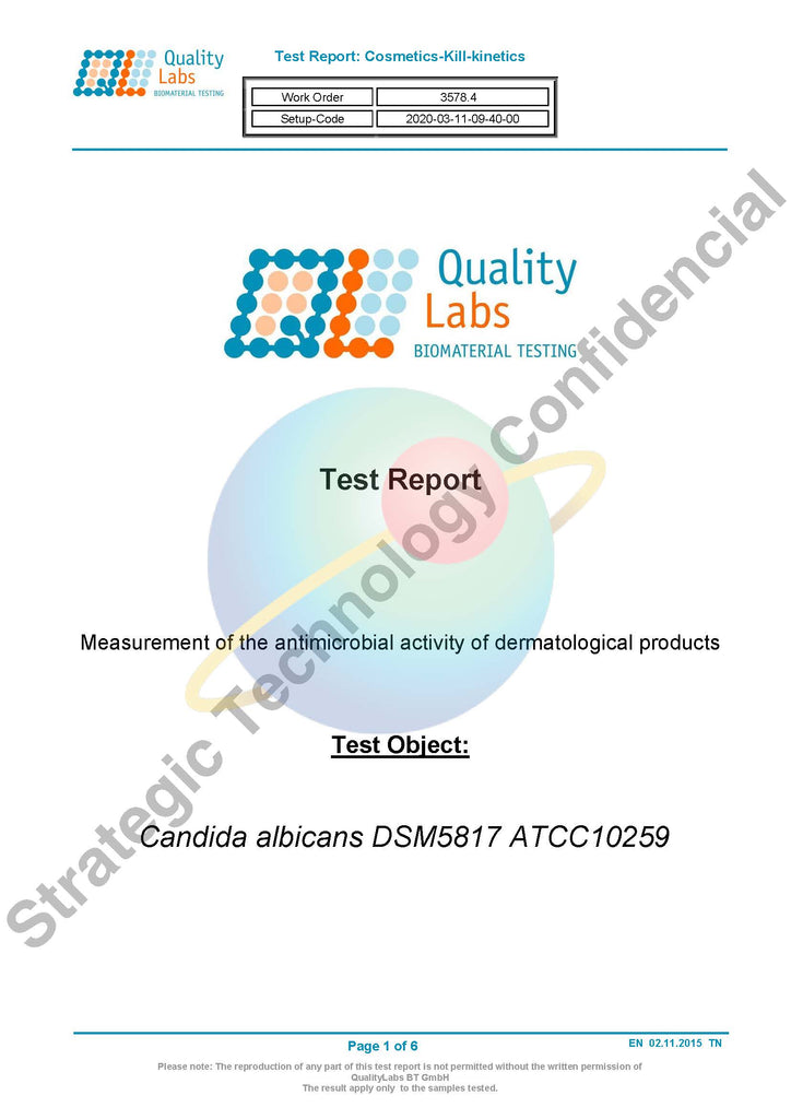 Test report - 白色念珠菌 Candida Albicans