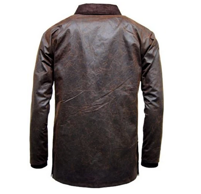 The Barker: Antique Waxed Jacket - WaxKraft