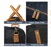 Over-nighter Waxed Canvas Duffel - WaxKraft