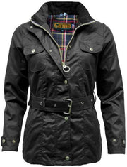 The Blaze: Women's Belted Premium Waxed Jacket - WaxKraft