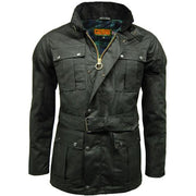 Game Continental Belted Motorcyle Wax Jacket - WaxKraft