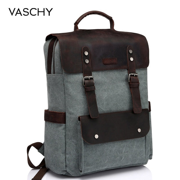 Heritage Style Waxed Canvas Computer Backpack! - WaxKraft