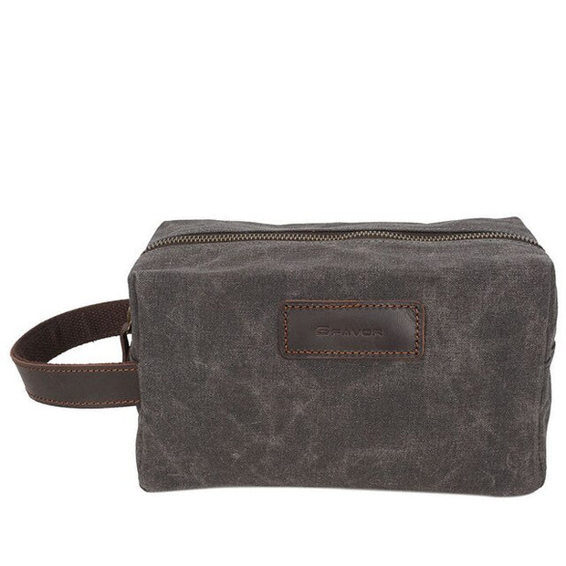 toiletry dopp + wash bag. Genuine leather - WaxKraft