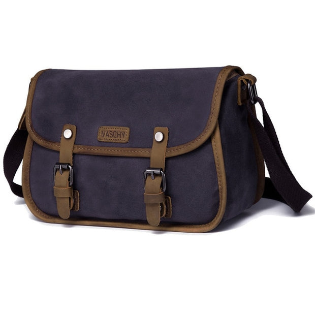 Woman's Vintage Waxed Canvas Messenger Bag - WaxKraft