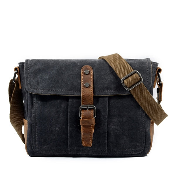 Retro style oilskin waxed canvas messenger - WaxKraft