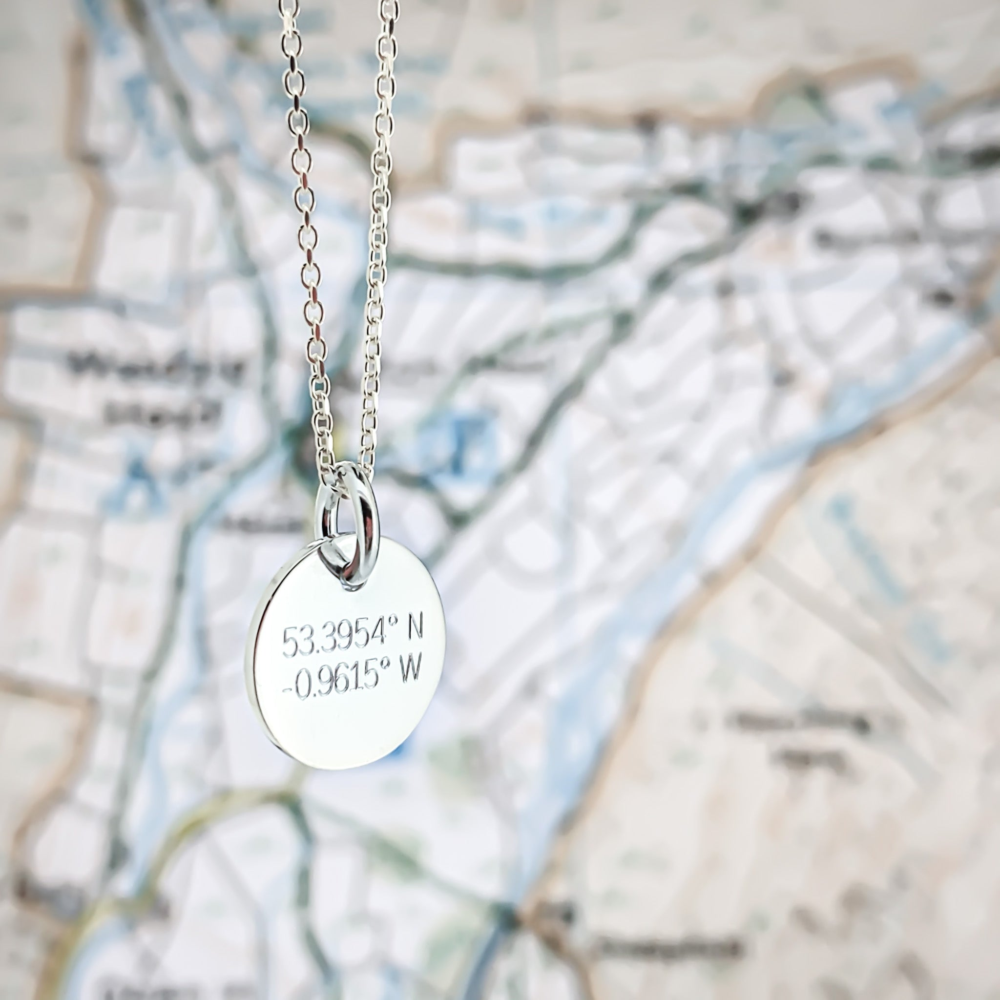 Mini Disc Coordinates Necklace
