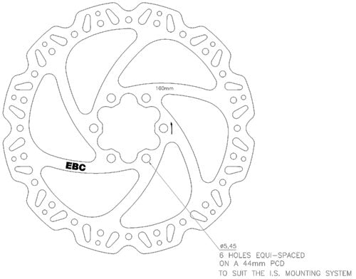 MTB Replacement Disc Drawing