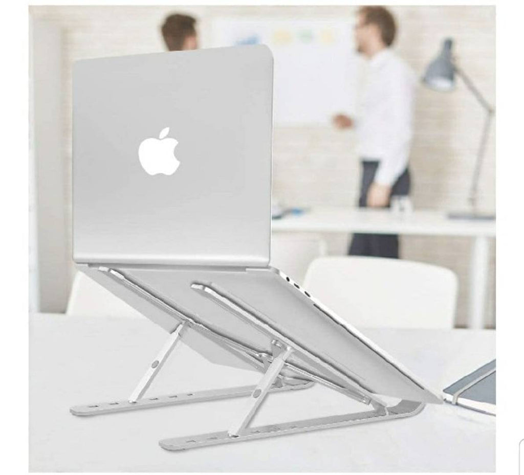 Laptop Stand Height Adjustable Plastic Ergonomic Tablet Stand Foldable Portable Desktop Holder Compatible with All Laptops